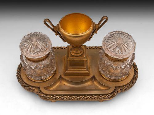 Bronze Gilded Inkstand