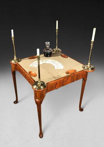 George I Period Walnut Card Table