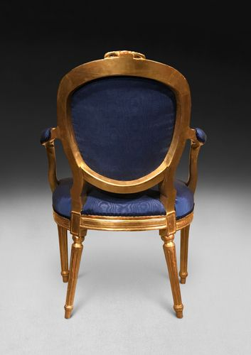 Pair of George III Carved Giltwood Salon Armchairs