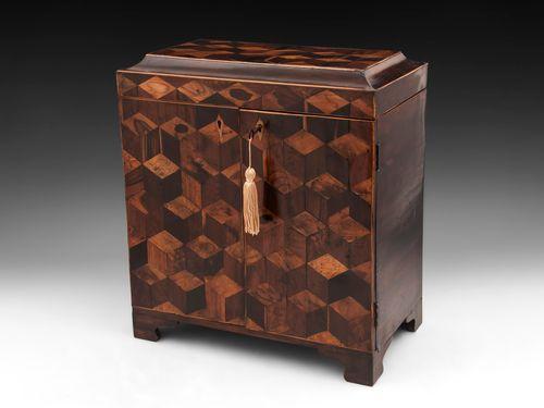 Antique Tunbridge Ware Sewing Cabinet