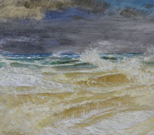 William Shackleton - The Storm - oil on paper