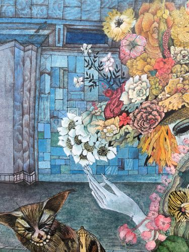 Cornelia Dibble - Blue Barbican - watercolour