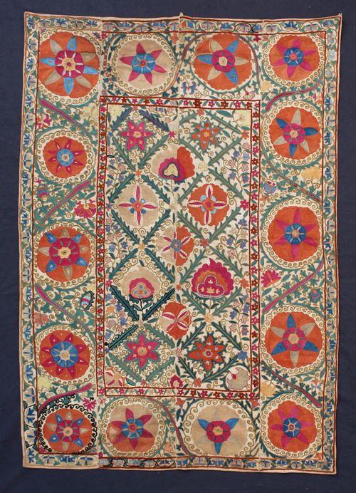19th-century Uzbek Nim Suzani