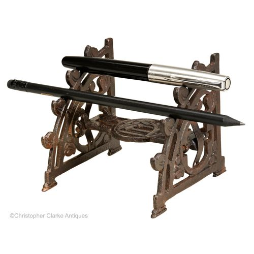 Cast Iron Folding Pen Stand, Registered Design
