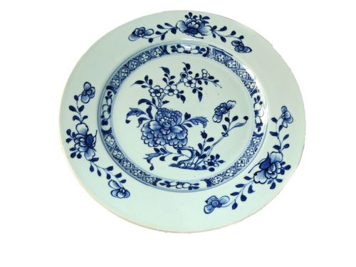 Nanking Cargo Blue and White Porcelain Plate