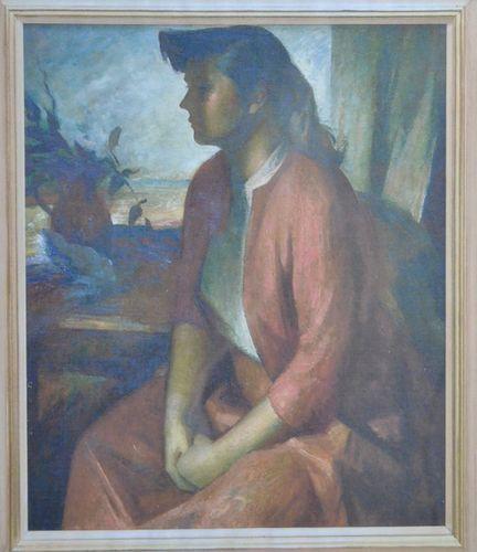 James Stroudley - Portrait of Gillian - chalks
