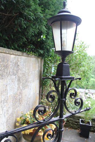 Large Antique Cast Iron Exterior Lantern