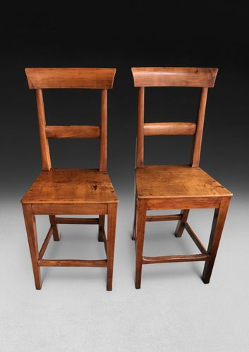 Pair of early 19th century Fruitwood Deportment Chairs