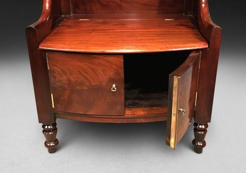 A Very Close Pair Of Regency Mahogany Bedside Cabinets