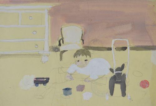 Barbara Dorf - Playtime - watercolour