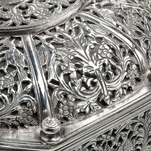 A Very Rare Indo-Portuguese Silver Octagonal Box (17th century Portugal)