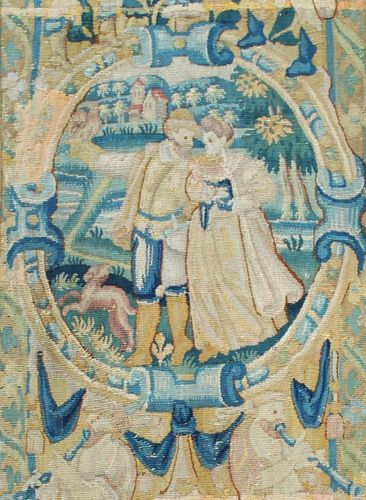 Early Flemish Tapestry Fragment