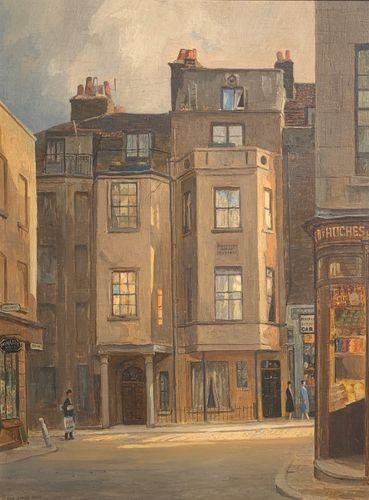 Rex Vicat Cole - Shepherd's Market, Mayfair, oil on board