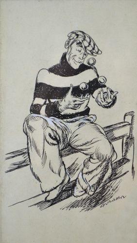 Steven Spurrier - Charlie Chaffinch - original pen & ink illustration