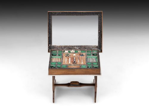 Antique Walterhausen Miniature Sewing Table Dolls house Furniture