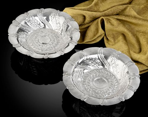 Charles I Silver Dessert Stands Thomas Maundy
