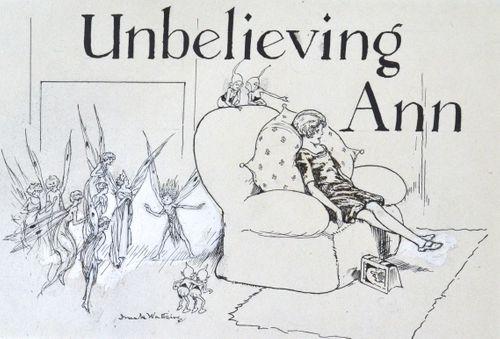 Frank Watkins - Unbelieving Ann - ink drawing