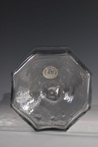 A rare octagonal decanter