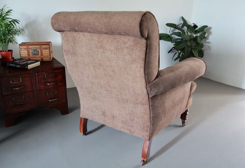Pair of Edwardian Howard Style Armchairs
