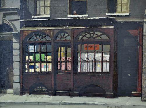 John Cole - Shop Front in Moor Street, Cambridge Circus