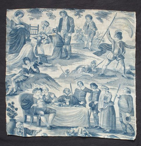 Shakespere's [sic] Seven Ages [of Man], English Print on Cotton