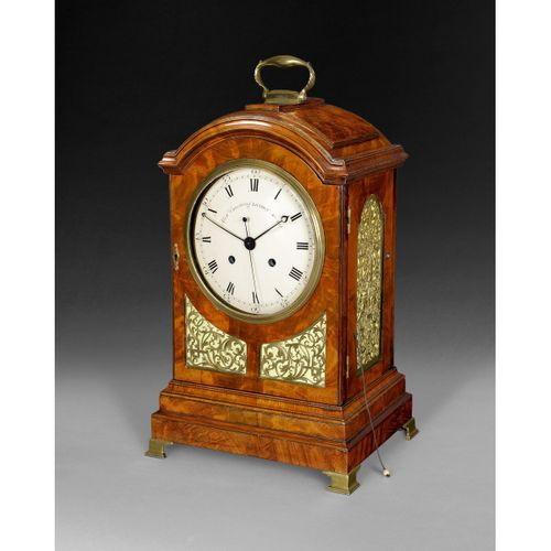 George III Mahogany Bracket Clock by Alexr. Cumming of London