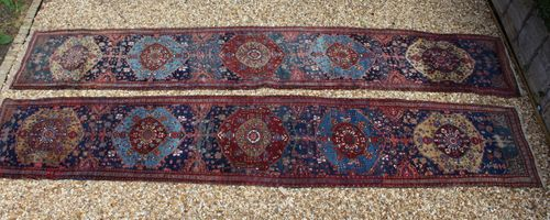 Pair of Antique Persian Heriz Runners