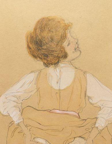 Raphael Kirchner - Lifting her Skirts