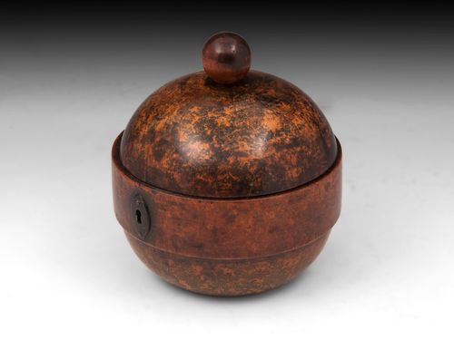 Rare Antique Sycamore Tea Caddy
