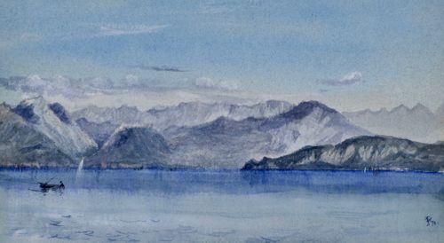 John Doyle, PRWS - Lake Garda - watercolour