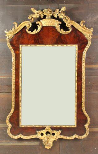 Antique parcel gilt mirror