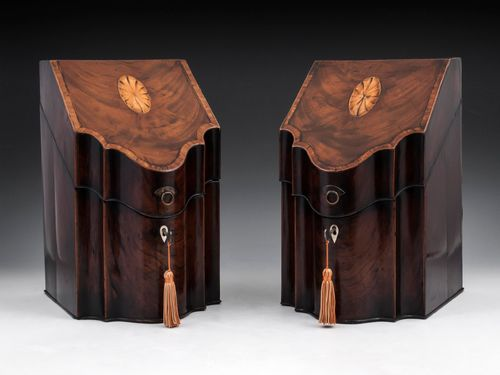 Georgian Mahogany Cutlery Boxes