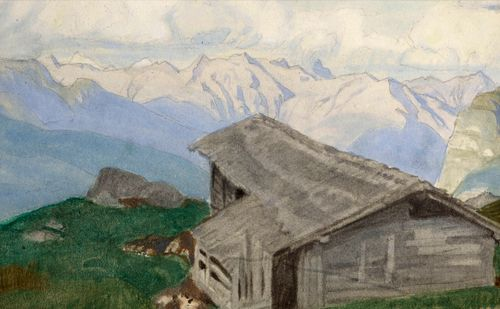 Charles March Gere - In the Alps - Watercolour