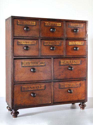 Victorian Apothecary Bank of Drawers