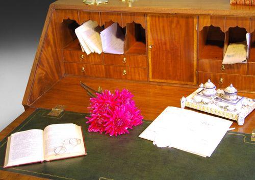 George III Mahogany Bureau