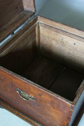 17th Century Oak Box Stool