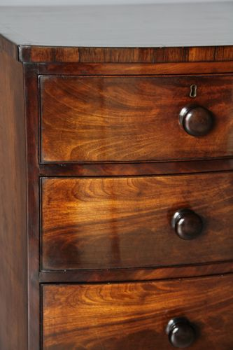 Regency Bow Front Mahogany Chest of Drawers