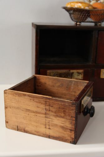 Small Victorian Apothecary Set of 4 Drawers