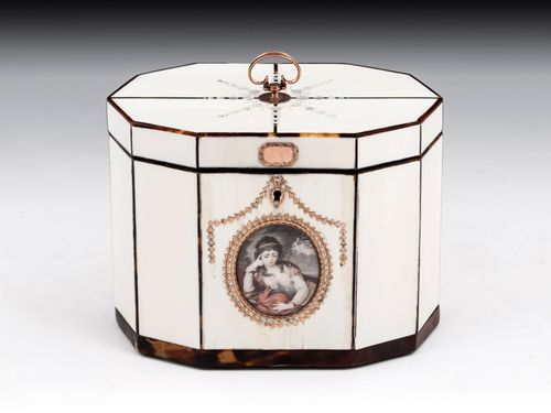 Ivory & Tortoiseshell Tea Caddy
