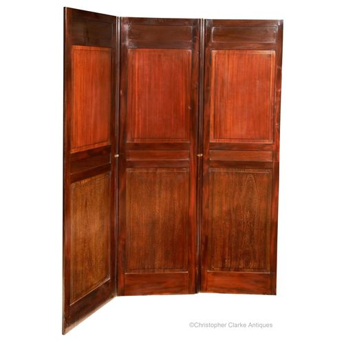 Mahogany, Folding Panelled Screen