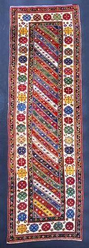 Late 19th-century Caucasian Gendje Runner, Azerbaijan
