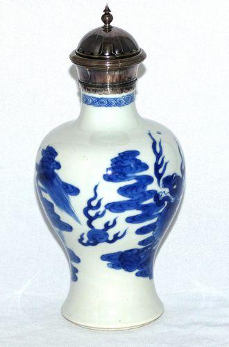 kangxi Blue and White Baluster Vase