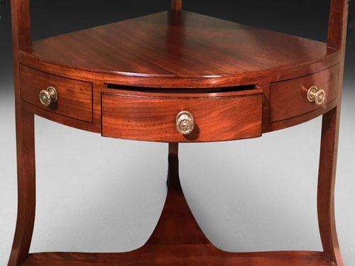 George III Mahogany Corner washstand