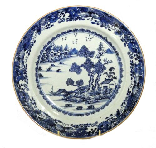 Qianlong Chinese 18th Century Blue and White Charger