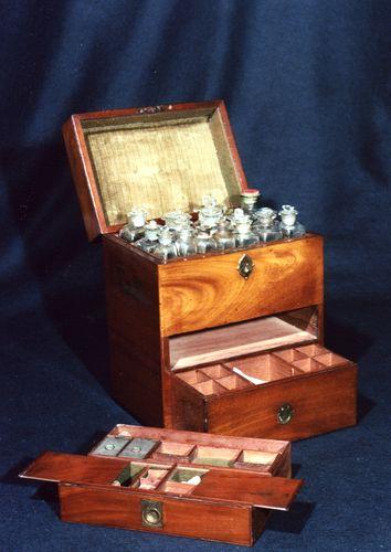 Regency Mahogany Fitted Military Apothecary's Box