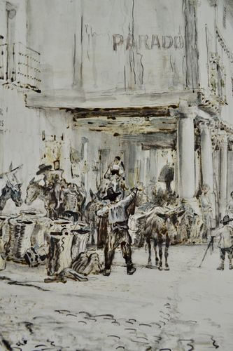 Muirhead Bone - Salamanca - Watercolour