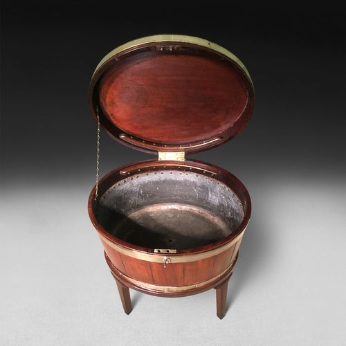 George III period Oval Mahogany Wine Cooler