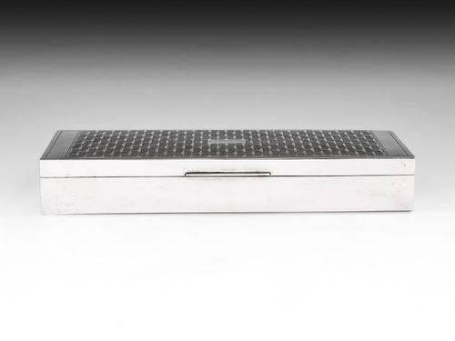 Art Deco Silver Cigar Box
