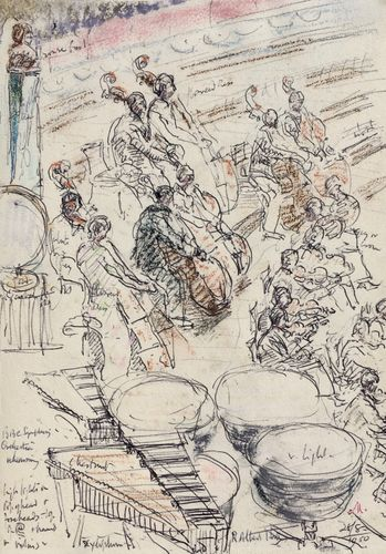 Lord Methuen - BBC Symphony Orchestra, Albert Hall - drawing