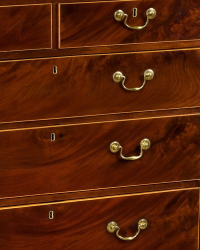 George III Mahogany Straight fronted Chest of Drawers